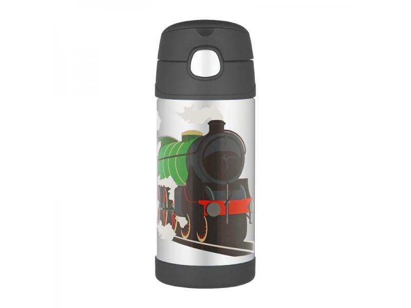 Thermos Dětská termoska s brčkem - vlak