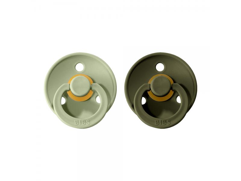 Dudlíky COLOUR Sage/Hunter Green - velikost 2, přír. kaučuk 2ks 1