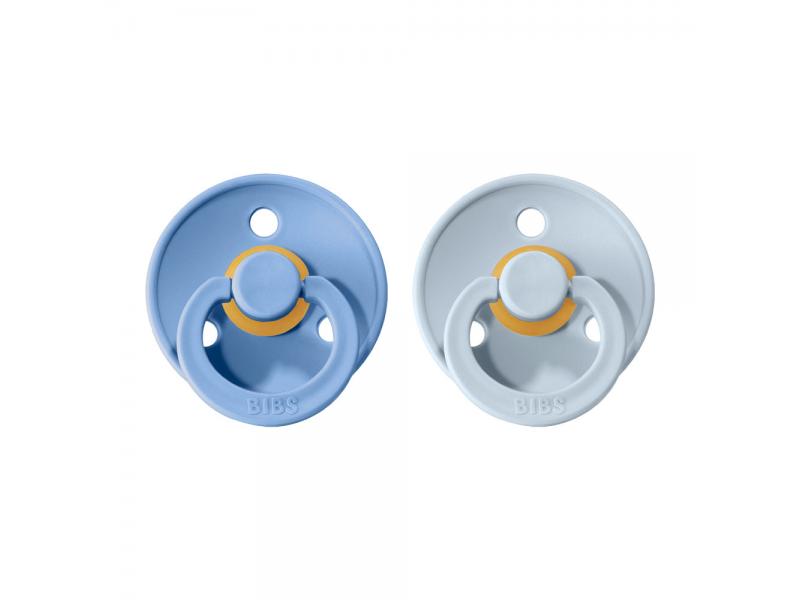 Dudlíky COLOUR Sky Blue/Baby Blue - velikost 2, přír. kaučuk 2ks 1