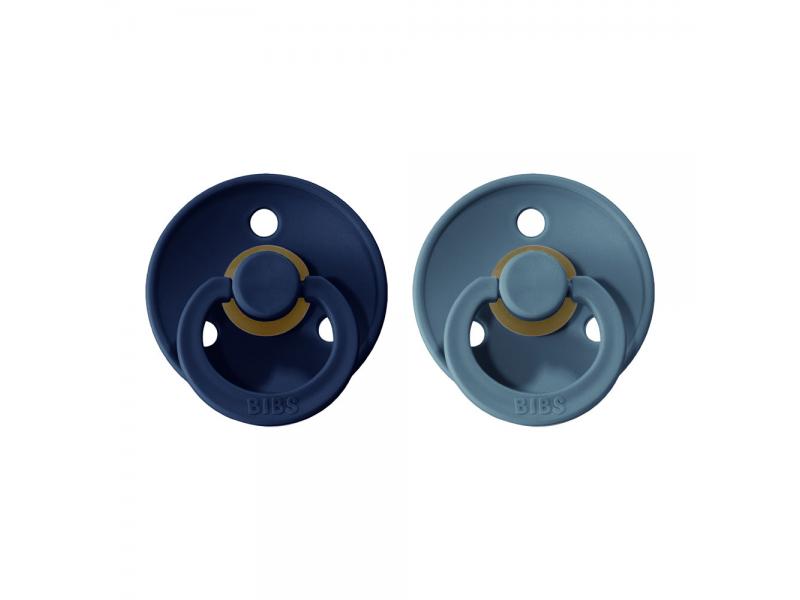 Dudlíky COLOUR Deep Space/Petrol - velikost 2, přír. kaučuk 2ks 1