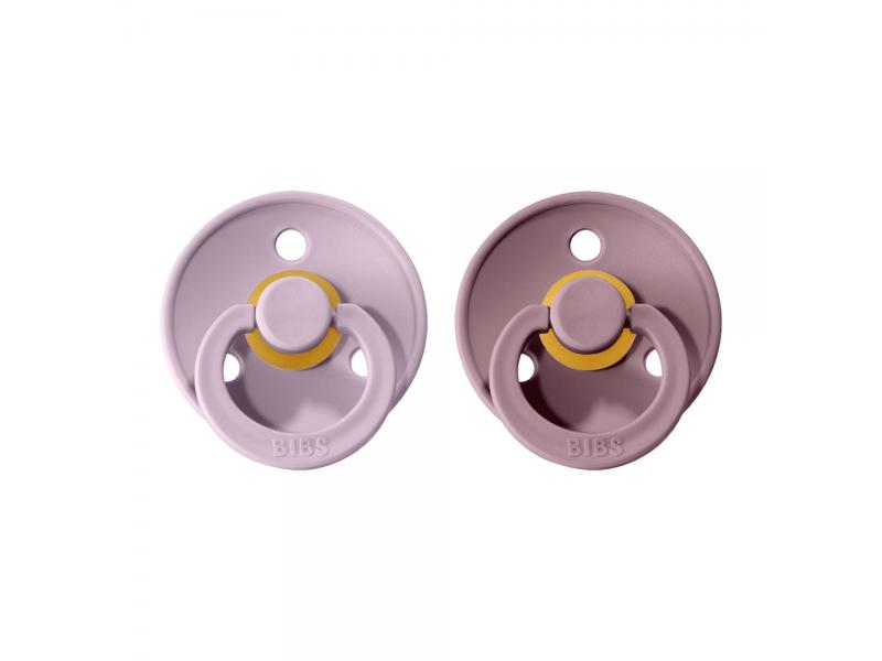Dudlíky COLOUR Dusky Lilac/Heather - velikost 2, přír. kaučuk 2ks 1
