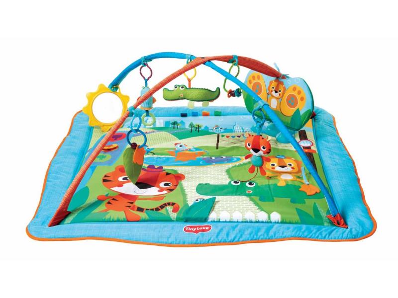Tiny Love Hrací deka s hrazdou Kick and Play City Safari