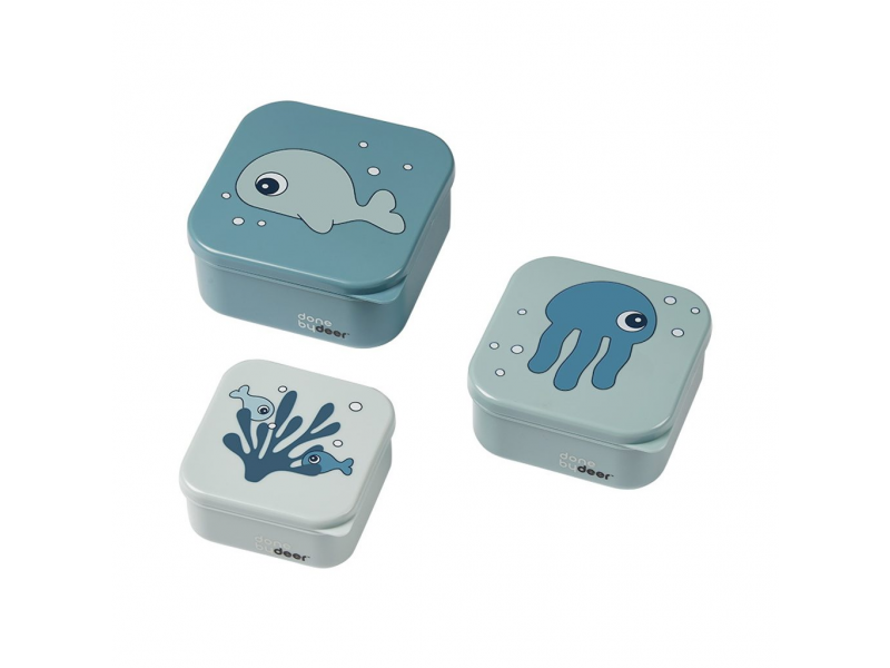 Svačinový box Sea friends 3ks - Blue 1