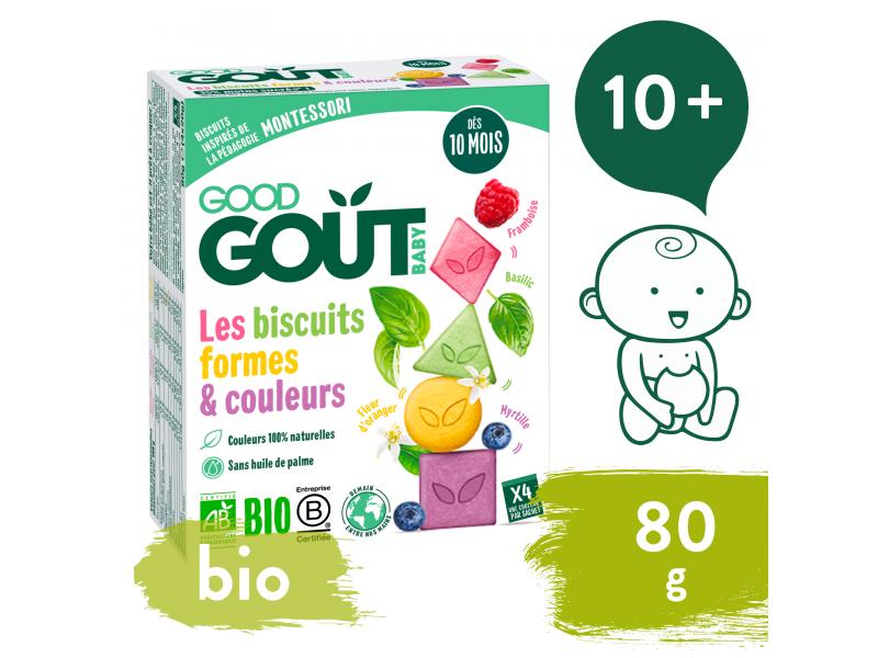 BIO Sušenky barvy & tvary (80 g) 1