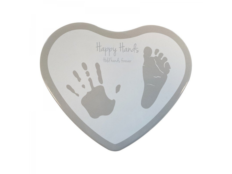 Happy Hands Happy Hands 2D Heart Silver/White