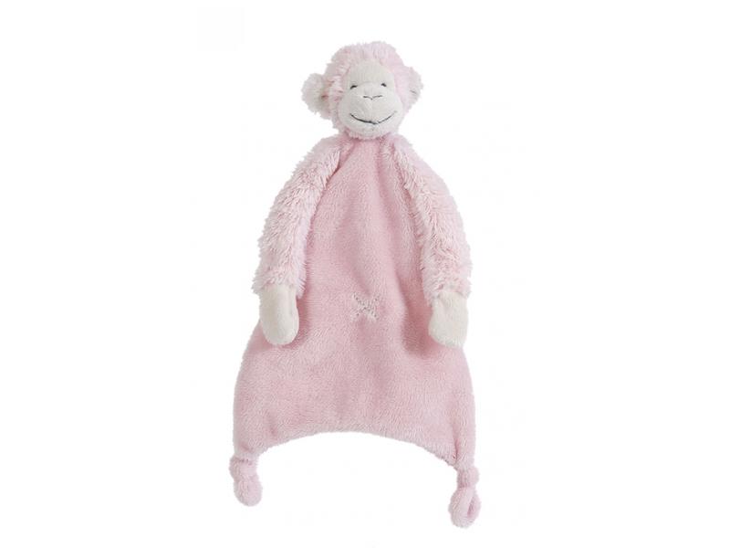 Růžová Opička Mickey Přítulka vel.28 cm 1