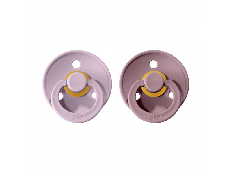 Dudlíky COLOUR Dusky Lilac/Heather - velikost 3, přír. kaučuk 2ks 1