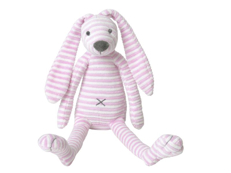 Růžový pruhovaný králíček Reece no. 1 vel.30 cm 1