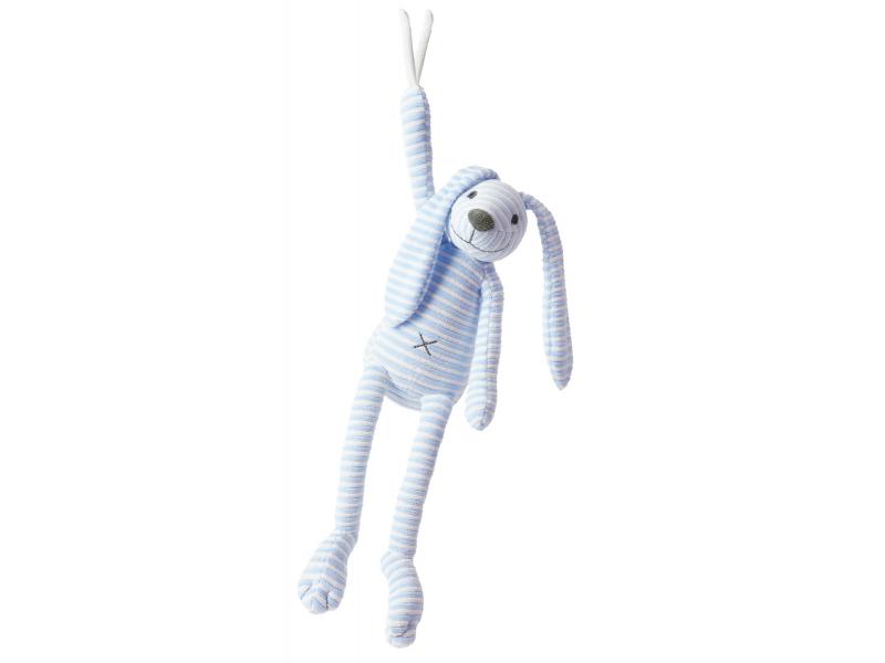 Happy Horse Modrý pruhovaný králíček Reece hudební vel.37 cm