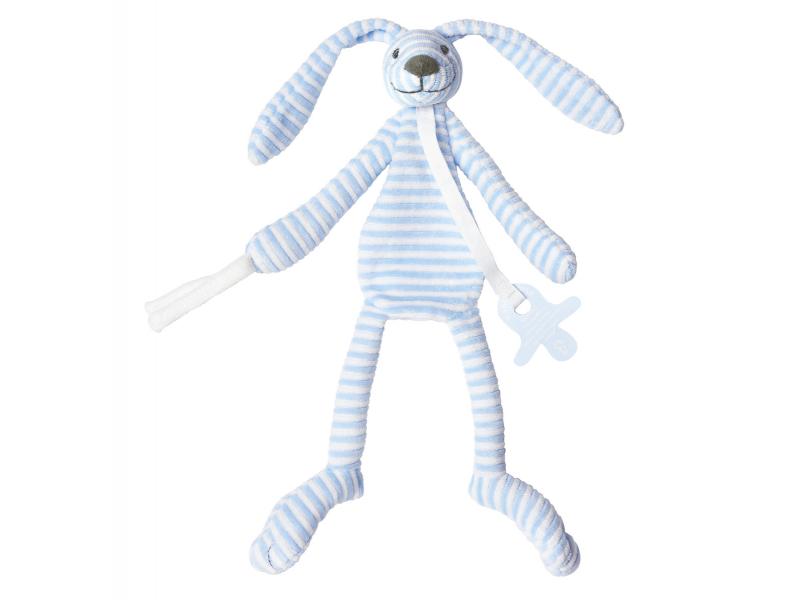 Happy Horse Modrý pruhovaný králíček Reece přítulka vel.30 cm