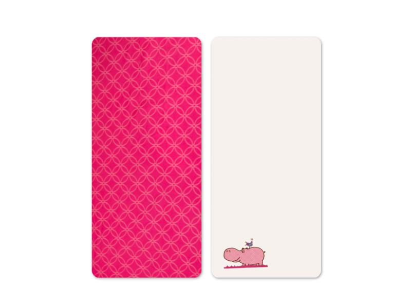 Prostěradla saténová 2 ks Hippo Pink 1