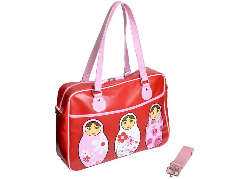 Bobble Art Dívčí kabelka velká červená / růžová