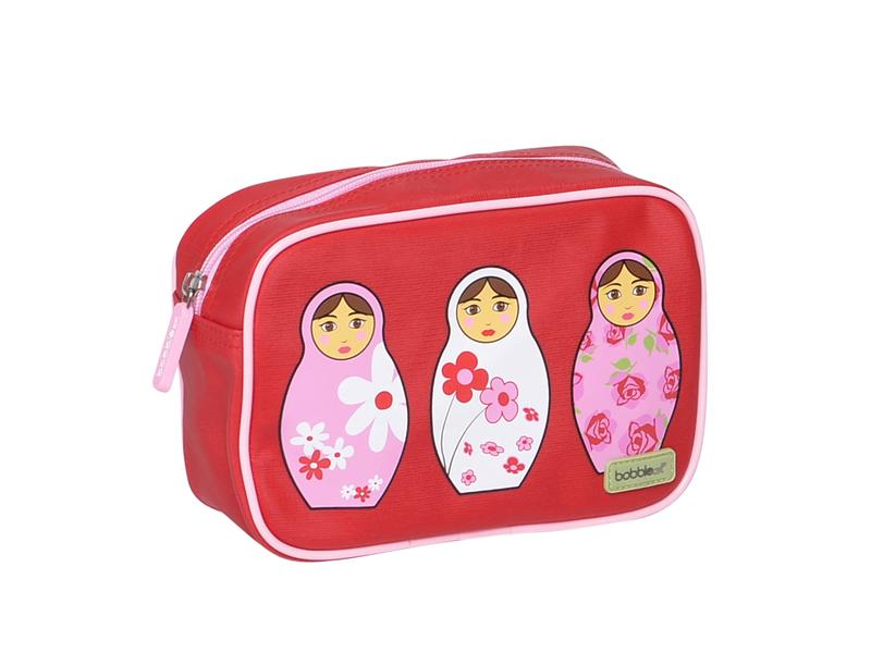 Bobble Art Dětská toaletní taška červená / růžová