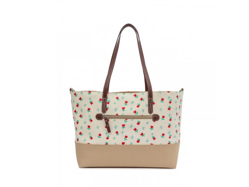 Pink Lining NOTTING HILL tulipány - kabelka i přebalovací taška