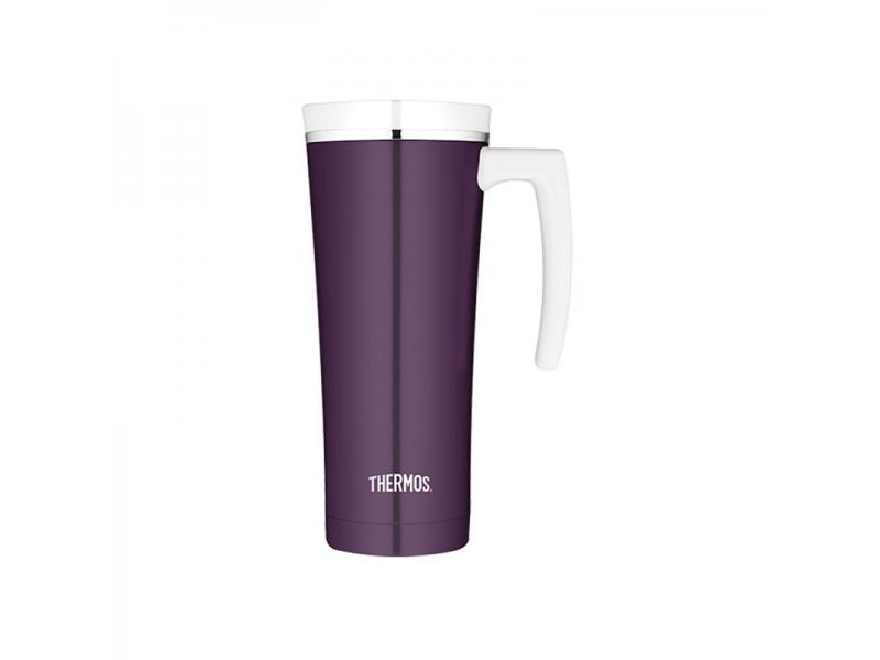 Thermos Vodotěsný termohrnek s madlem - tmavě purpurová