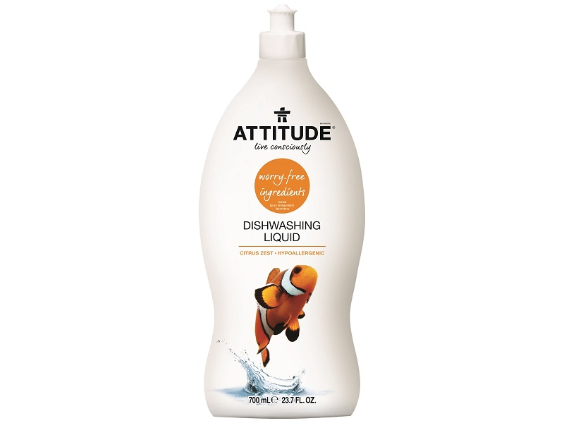 Attitude Prostředek na mytí nádobí s vůní citronové kůry 700 ml