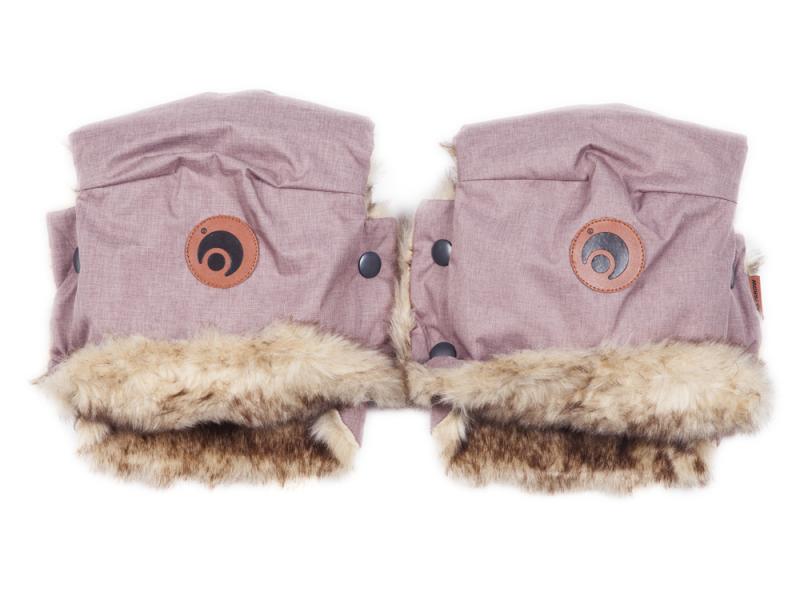 EasyGrow Rukavice na kočárek BASIC Pink Melange