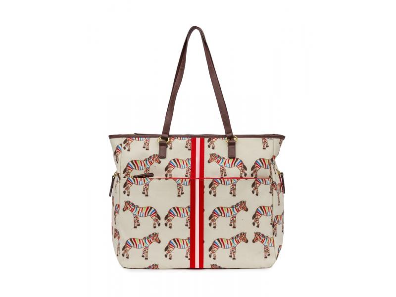 Pink Lining HENRIETTA TOTE zebry - přebalovací taška