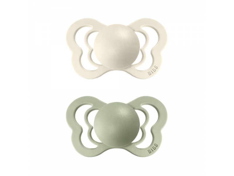 Dudlíky COUTURE ORTODONTIC SILIKON Ivory/Sage velikost 1, 2ks 1