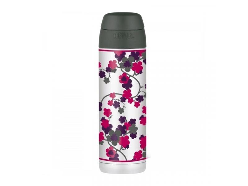 Thermos Termoska na nápoje s brčkem -třešnový květ