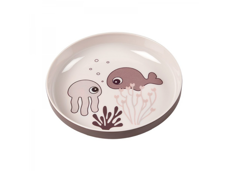 Talíř Sea Friends Yummy - růžová 1