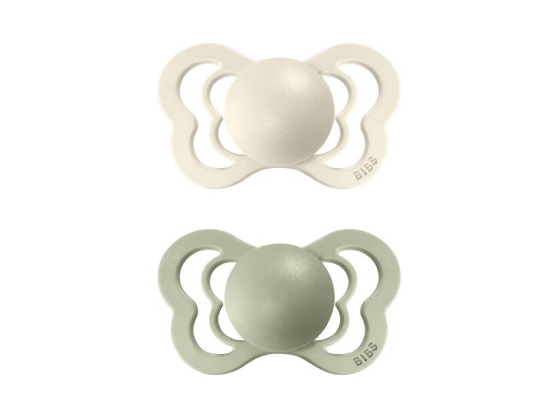 Dudlíky COUTURE ORTODONTIC SILIKON Ivory/Sage velikost 2, 2ks 1