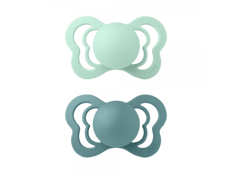 Dudlíky COUTURE SILIKON Nordic Mint/Island Sea velikost 2, 2ks 1