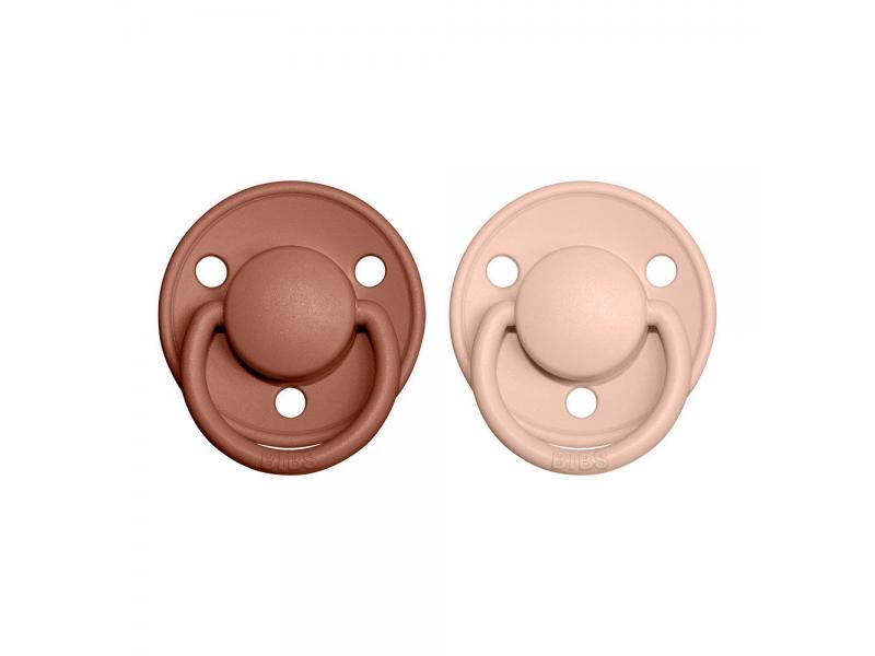 Dudlíky DE LUX Woodchuck/Blush - velikost 1, z přír.kaučuku 2ks 1