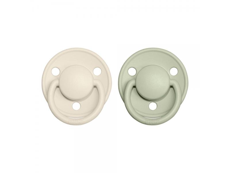 Dudlíky DE LUX Ivory/Sage - velikost 1, z přír.kaučuku 2ks 1