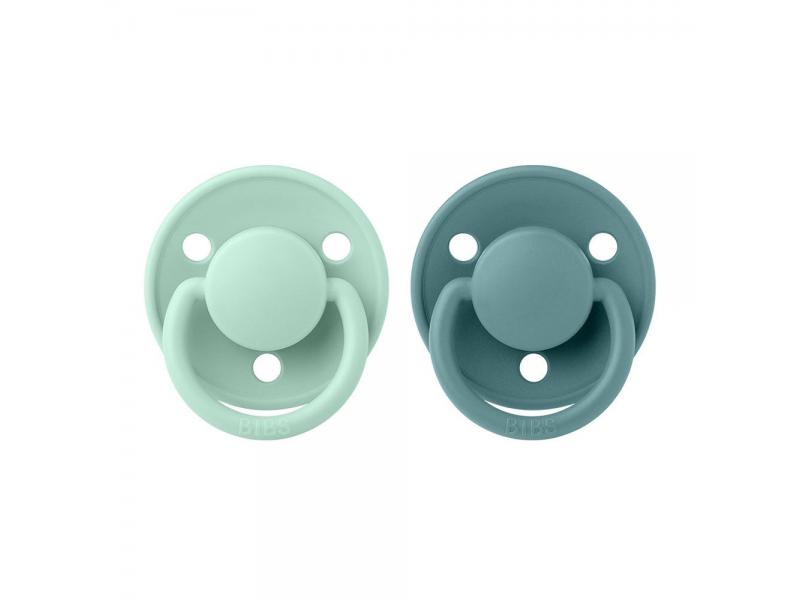 Dudlíky DE LUX Nordic Mint/Island Sea velikost 1, přir.kaučuk 2ks 1
