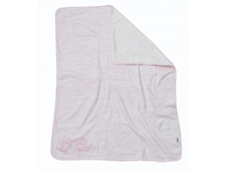 toTs Přikrývka fleece / žerzej růžová