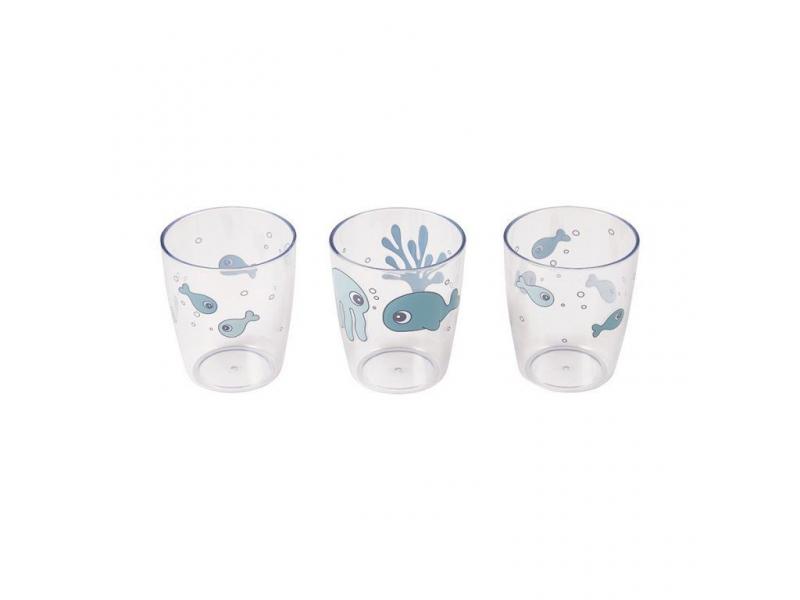 Sea Friends mini skleničky 3ks - modré 1