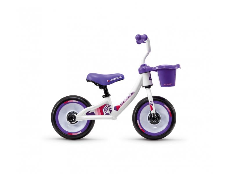 S'COOL Dětské odrážedlo pedeX 3v1 bílo-fialové
