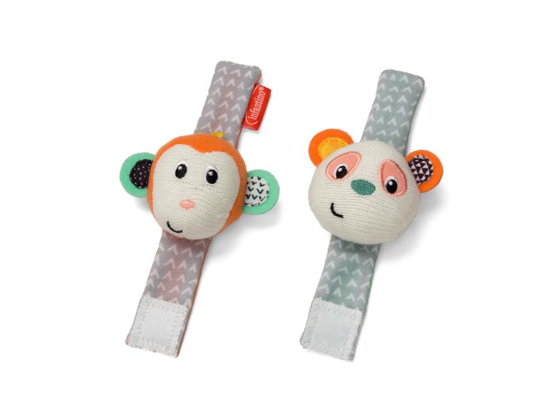 Chrastítka na ruku Opička & Panda 1