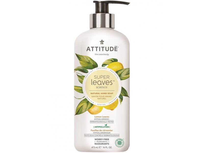Přírodní mýdlo na ruce Super leaves s detox. účinkem - citrusové listy 473 ml 1