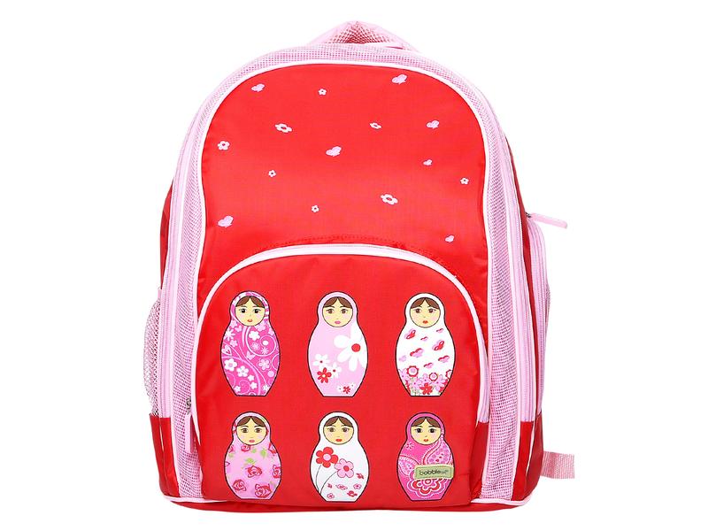 Bobble Art Školní batoh červený / růžový