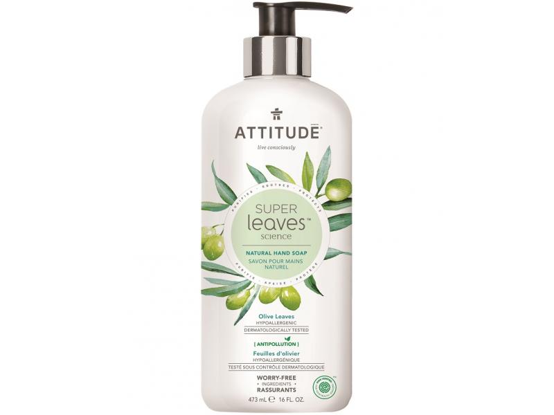 Přírodní mýdlo na ruce Super leaves s detox. účinkem - olivové listy 473 ml 1