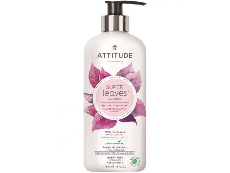 Přírodní mýdlo na ruce Super leaves s detox. účinkem - čajové listy 473 ml 1