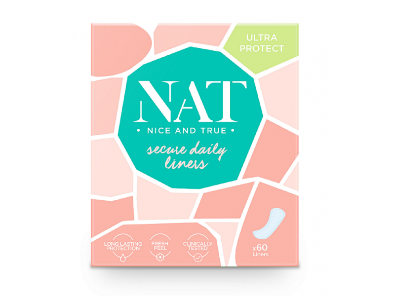NAT nice & true Slipové vložky - secure daily (60 ks)