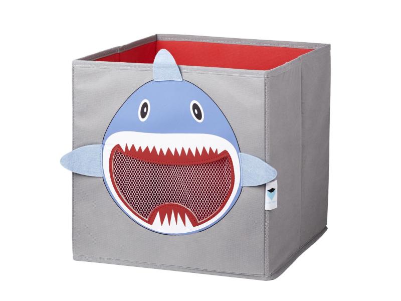 STORE IT Box na hračky se síťkou žralok