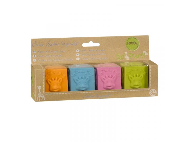 Vulli So'Pure Sophie la girafe® kostky (4 kostky z přírodní gumy)