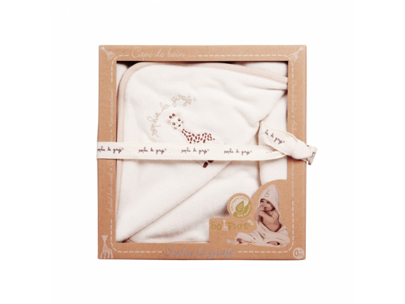 Osuška s kapucí z organické 100% bavlny z kolekce So