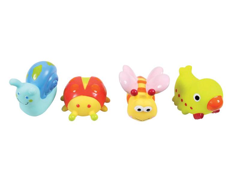 Hračky do vody zvířátka z louky 4ks 1