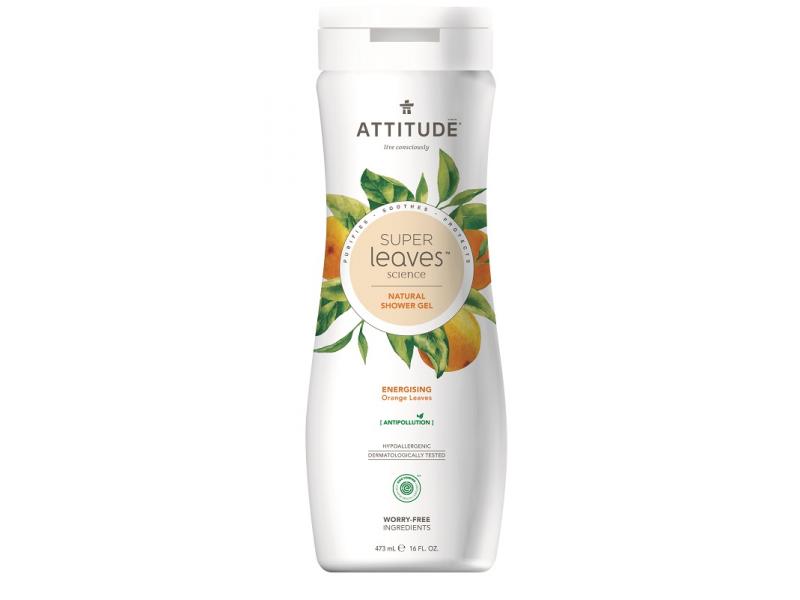 Přírodní tělové mýdlo Super leaves s detox. účinkem - pomerančové listy 473 ml 1