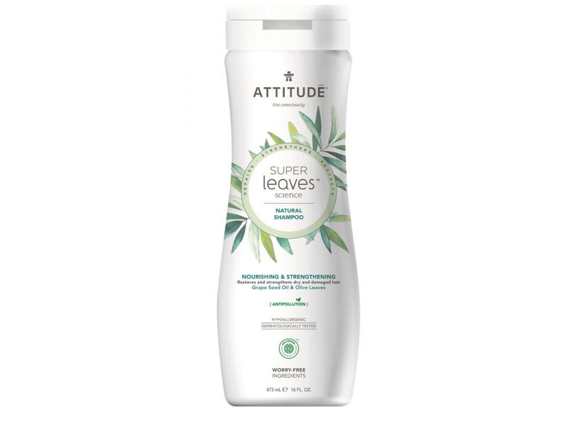 Přírodní šampón Super leaves s detox. účinkem - vyživující pro suché a poškozené vlasy 473 ml 1