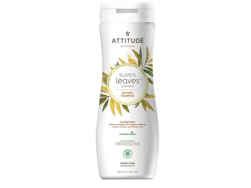 Přírodní šampón Super leaves s detox. účinkem  - rozjasňující pro normální a mastné vlasy 473 ml 1