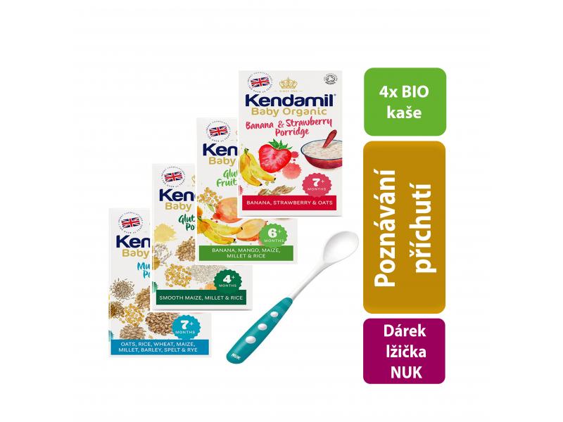 Kendal Nutricare KENDAMIL Variace Organických - BIO kaší se lžičkou (600g)