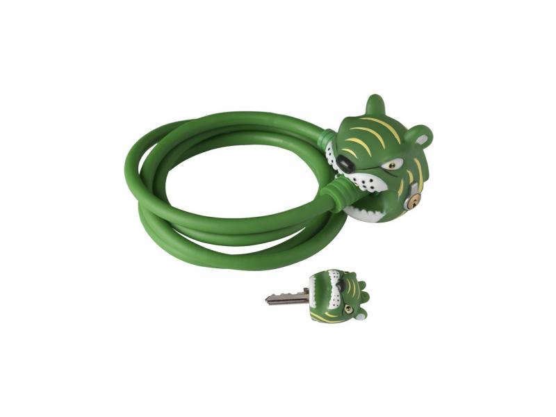 Crazy Safety Zámek na kolo Zelený Tygr