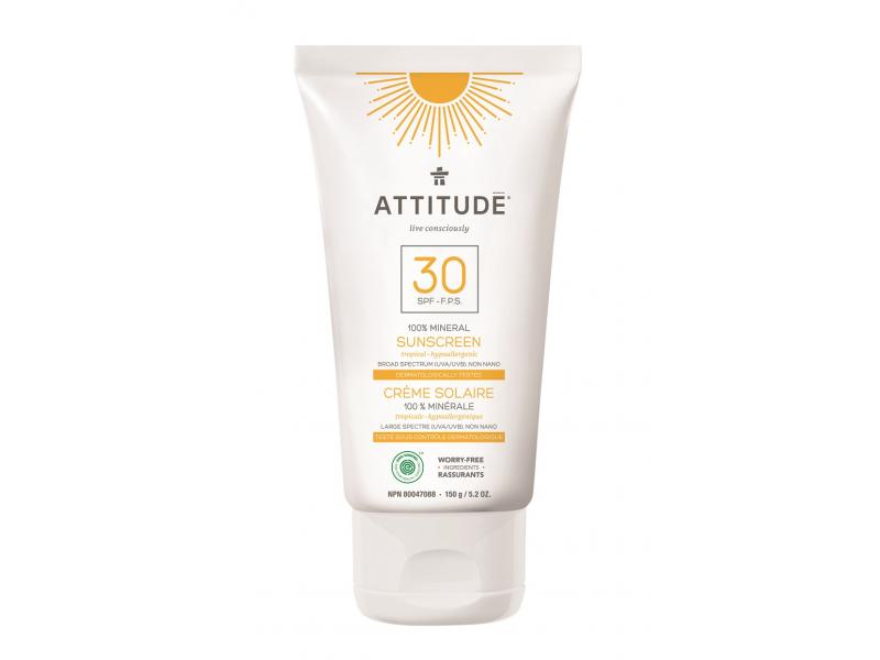 Attitude 100 % minerální opalovací krém (SPF 30 ) s vůní Tropical 150 g