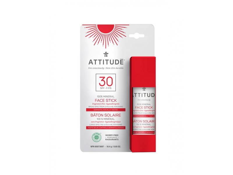 100% minerální ochranná tyčinka na obličej a rty (SPF 30) bez vůně 18,4 g 1